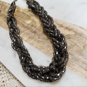 Soft Metallic Braided Necklace
